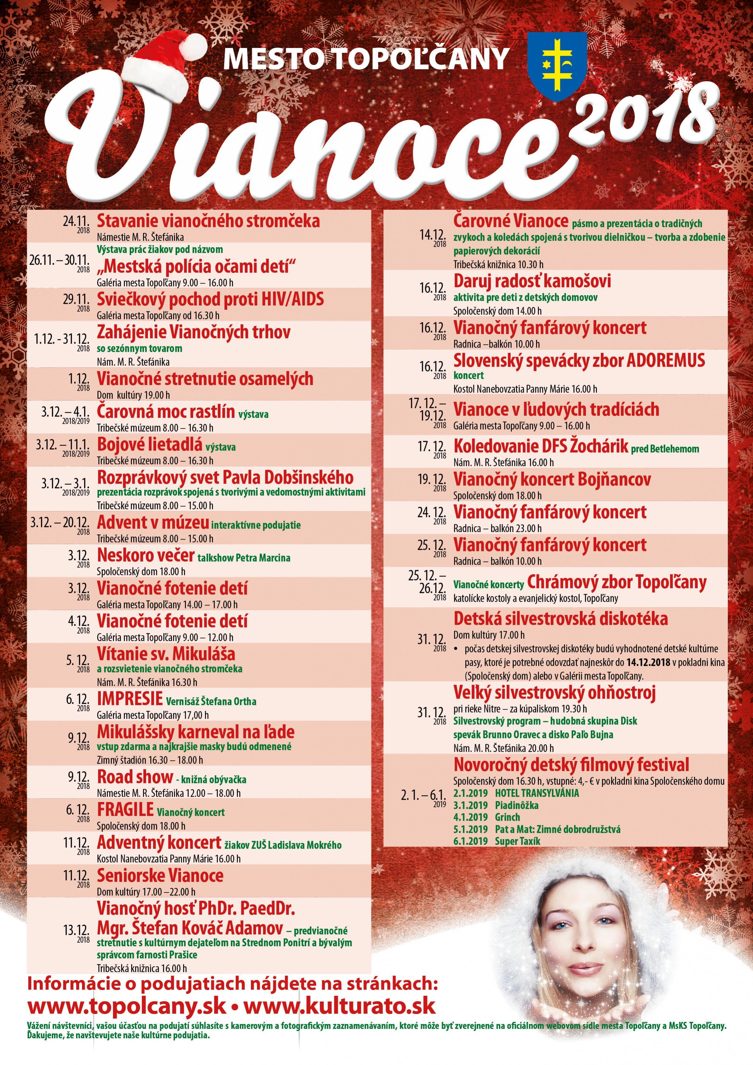 Vianočný program v Topoľčanoch