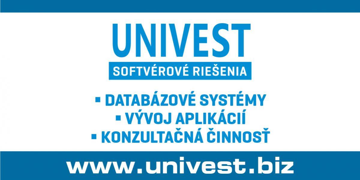 univest databáza aplikácia