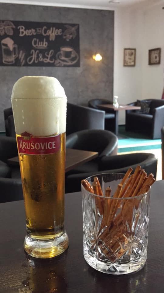 pivo Krušovice Beer & Coffee club Topoľčany