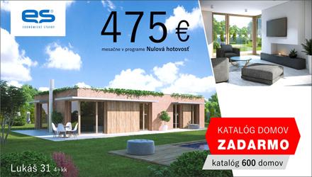 Ekonomické stavby - rodinný dom Lukáš len za 475€ mesačne v programe Nulová hotovosť. katalóg domov Zadarmo - objednávajte tu.