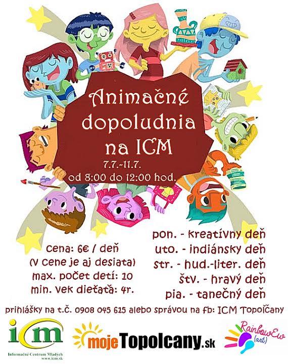 Animačné dopoludnia pre deti v ICM - Katalóg firiem  26f742ea7be