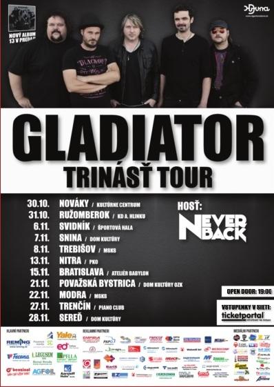 TOUR SKUPINY GLADIATOR S NOVÝM CD 13 SA - Kam v meste  9a904ee6d86
