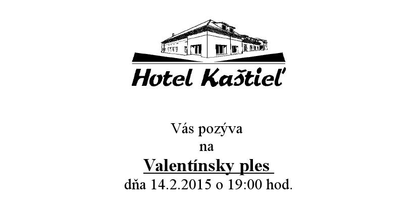 Valentínsky ples v Hoteli Kaštieľ - Kam v meste  799b0847f0