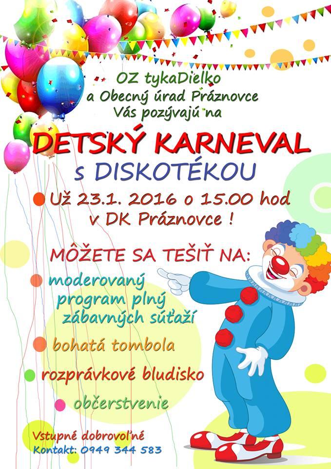 Detský karneval s diskotékou - Kam v meste  d8e22e83b17
