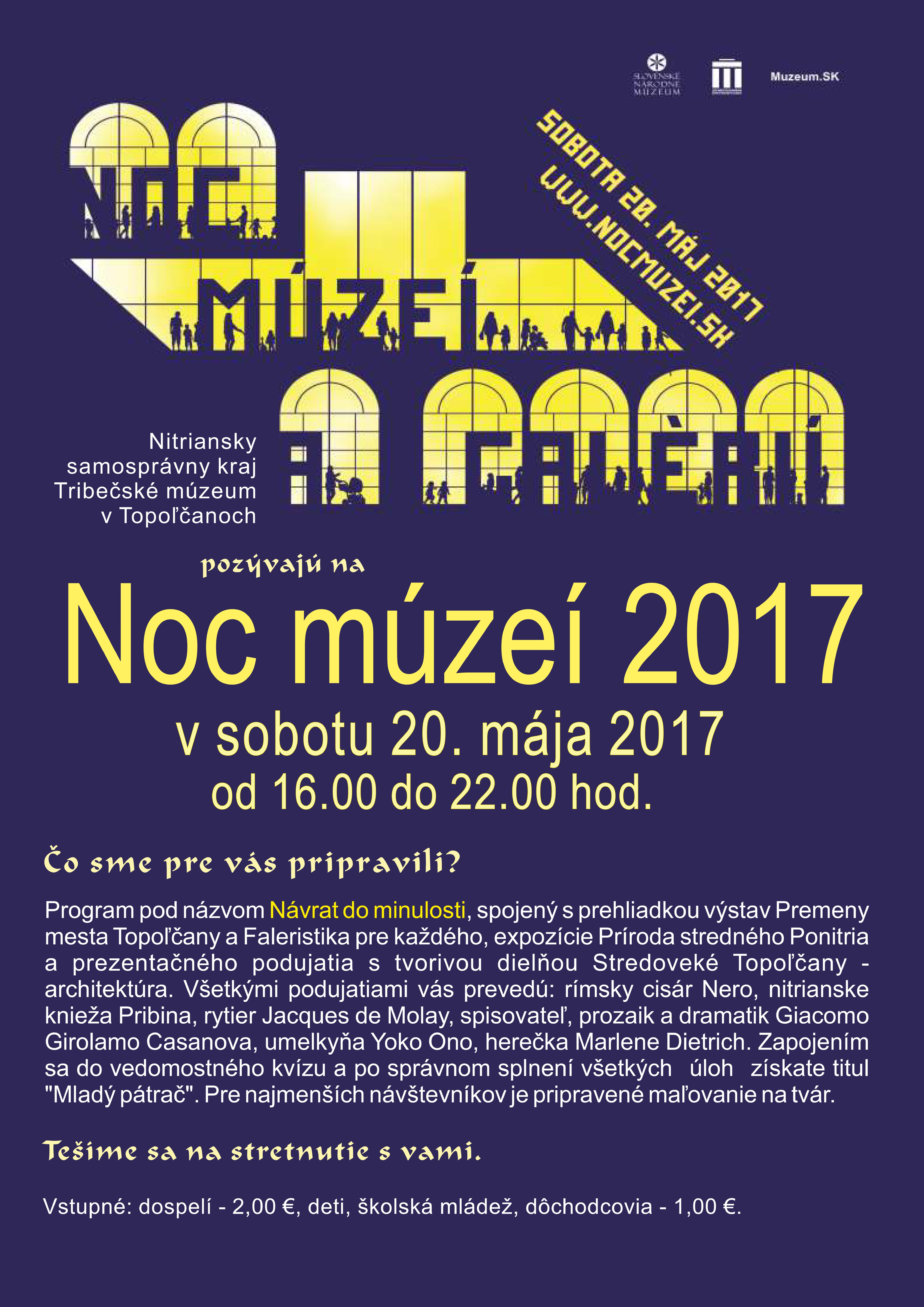 cc41ede32 Noc múzeí 2017 - Kam v meste | moje Topolcany